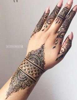 Black Mehndi Designs 6