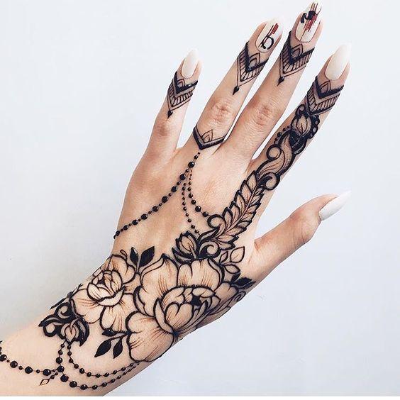 Black Mehndi Designs 7