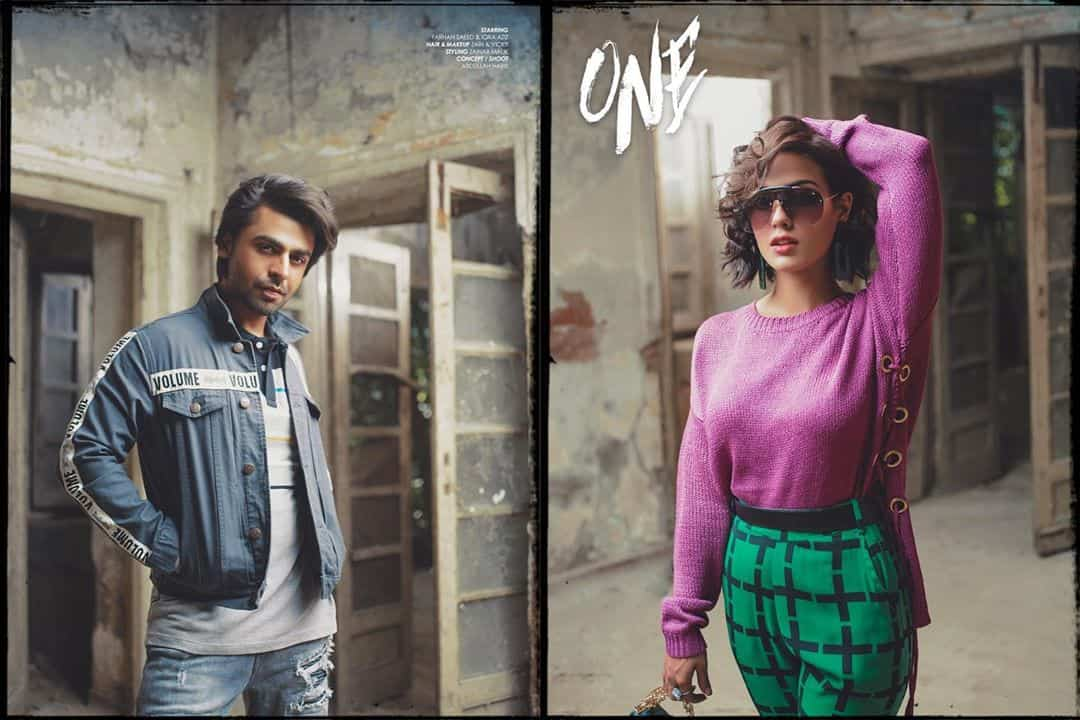 Latest Shoot of Farhan Saeed & Iqra Aziz for a Clothing Brand