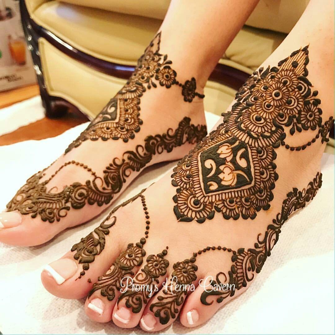 Feet Mehndi Designs 1
