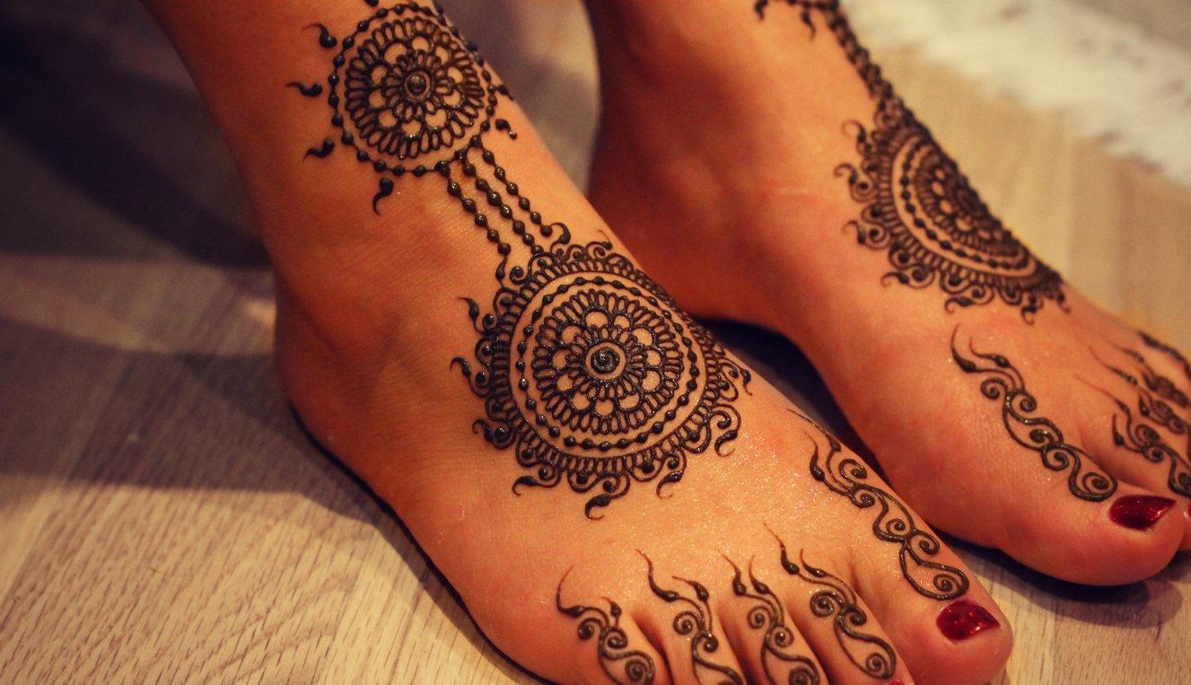 Feet Mehndi Designs 10