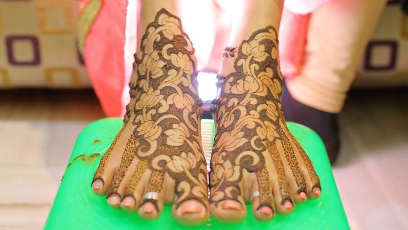 Feet Mehndi Designs 14