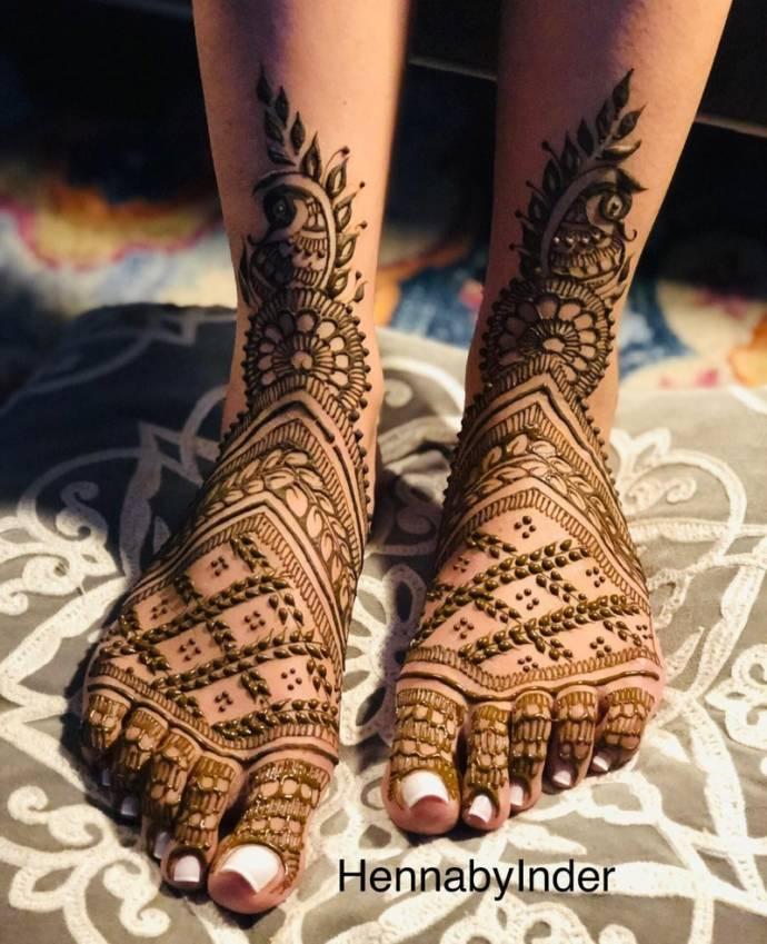 Feet Mehndi Designs 18