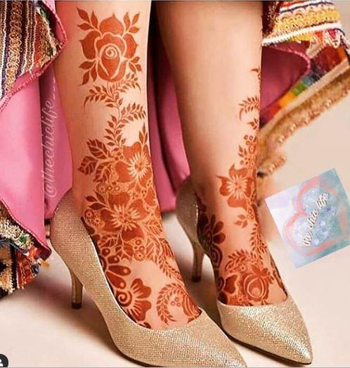Feet Mehndi Designs 19