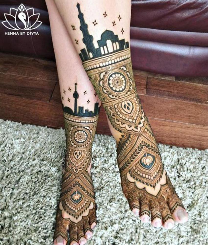 Feet Mehndi Designs 20