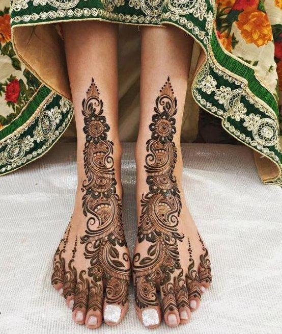 Feet Mehndi Designs 21
