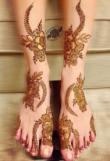 Feet Mehndi Designs 3