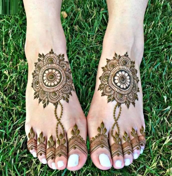 Feet Mehndi Designs 5
