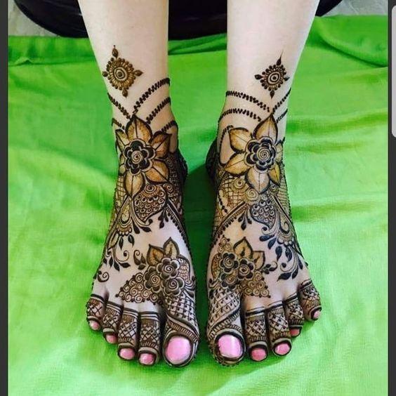 Feet Mehndi Designs 6