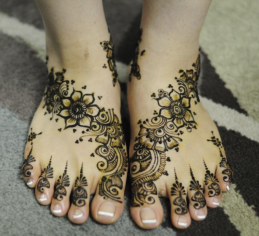 Feet Mehndi Designs 7