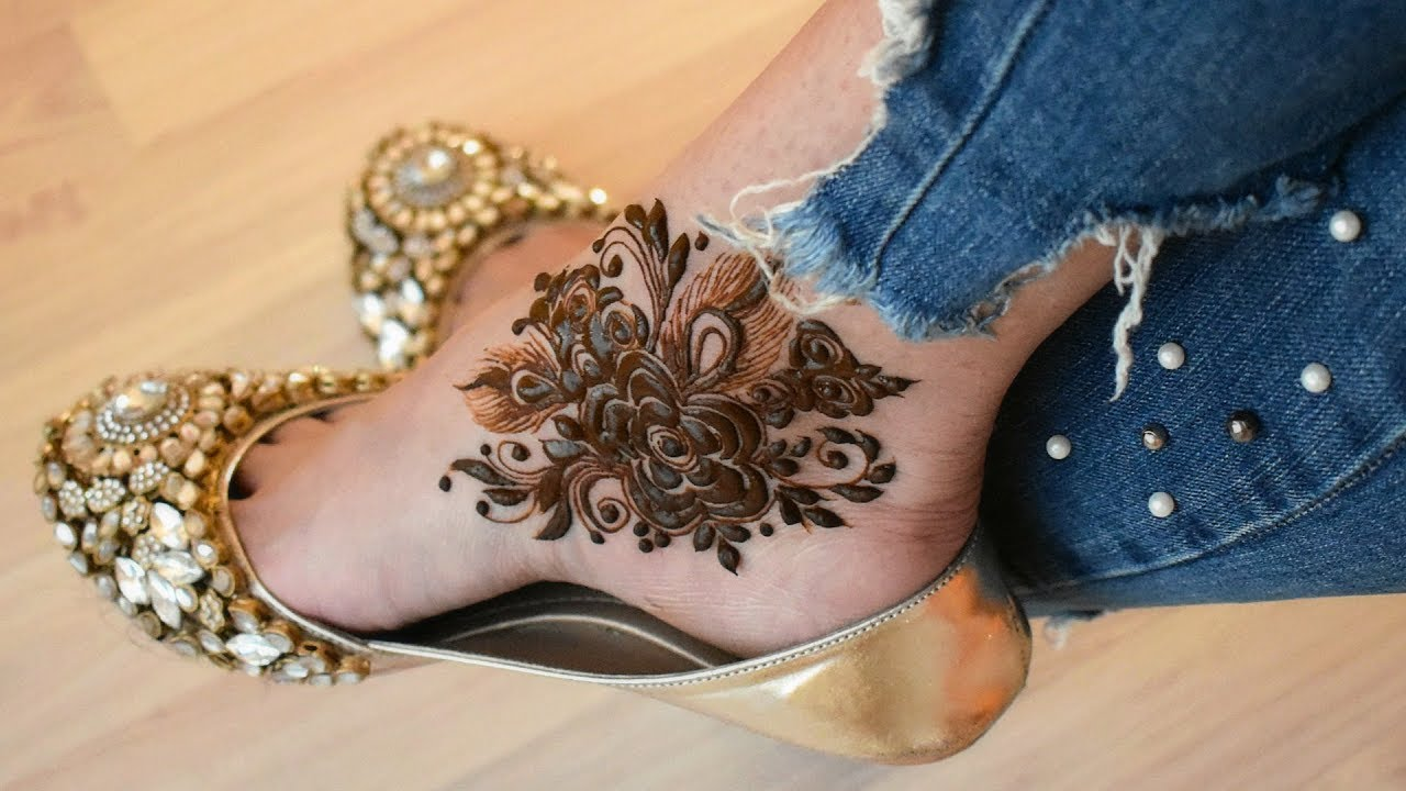 Feet Mehndi Designs 8