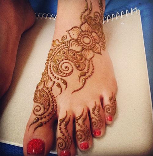 Feet Mehndi Designs 9