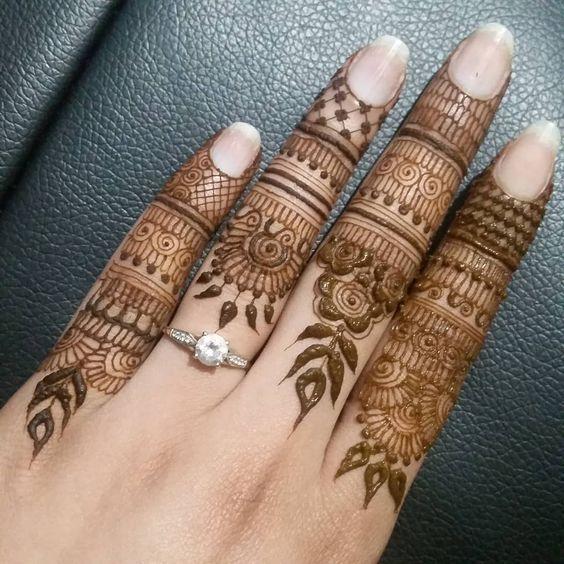 Finger Mehndi Designs 10