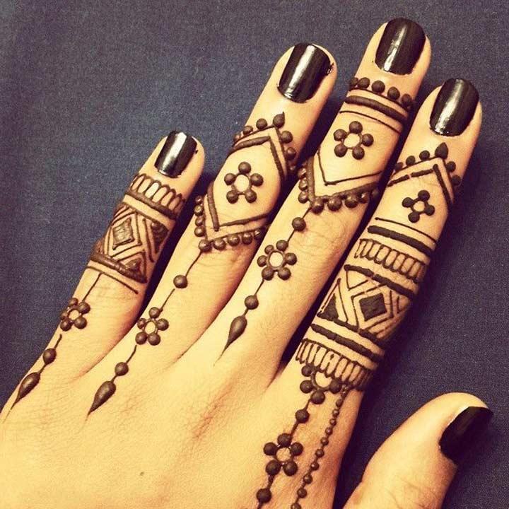Finger Mehndi Designs 11