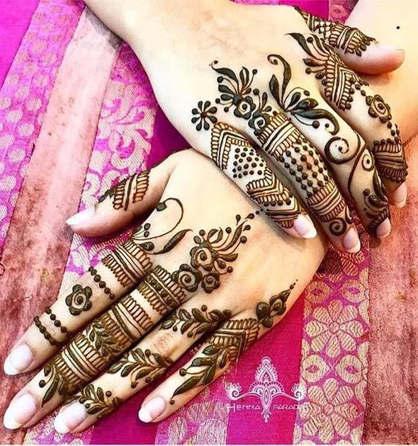 Finger Mehndi Designs 13