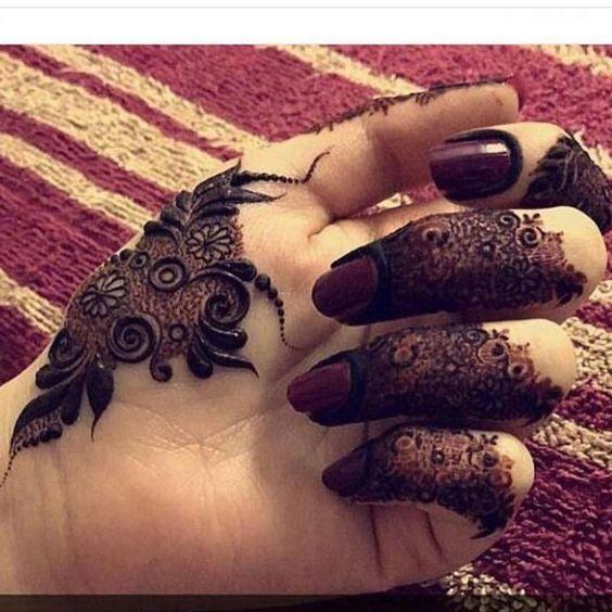 Finger Mehndi Designs 14