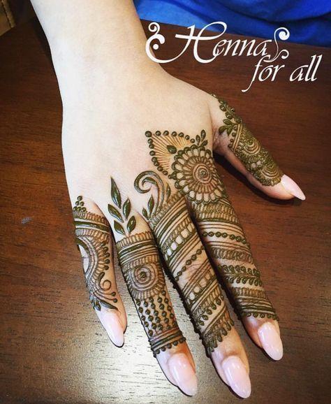 Finger Mehndi Designs 17