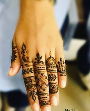 Finger Mehndi Designs 22