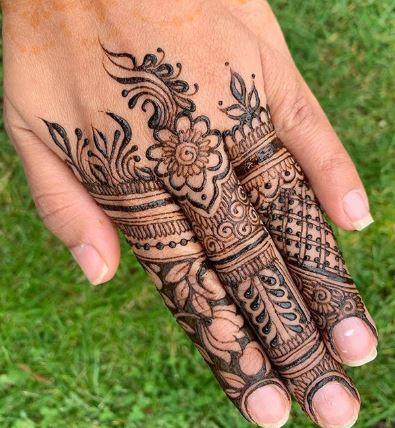 Finger Mehndi Designs 23