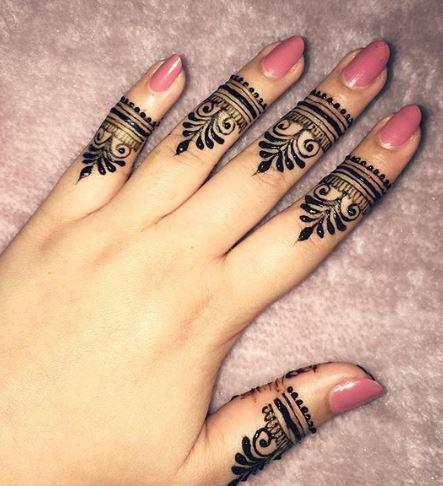 Finger Mehndi Designs 24