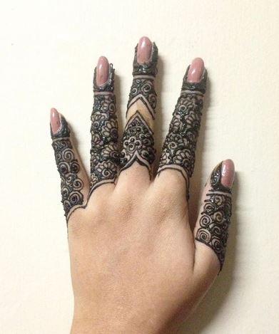 Finger Mehndi Designs 25