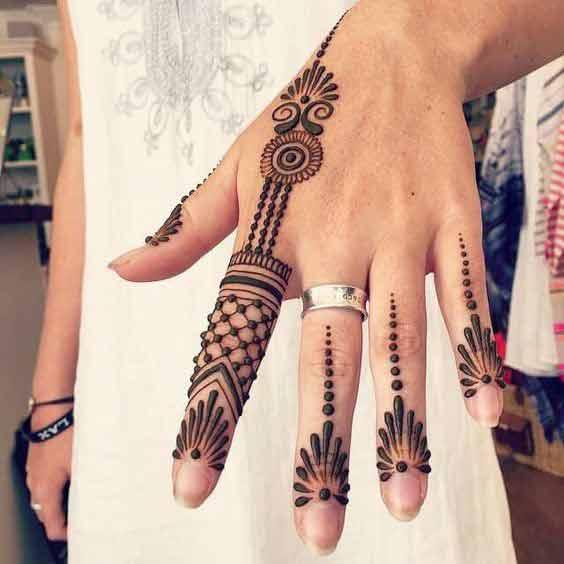 Finger Mehndi Designs 3