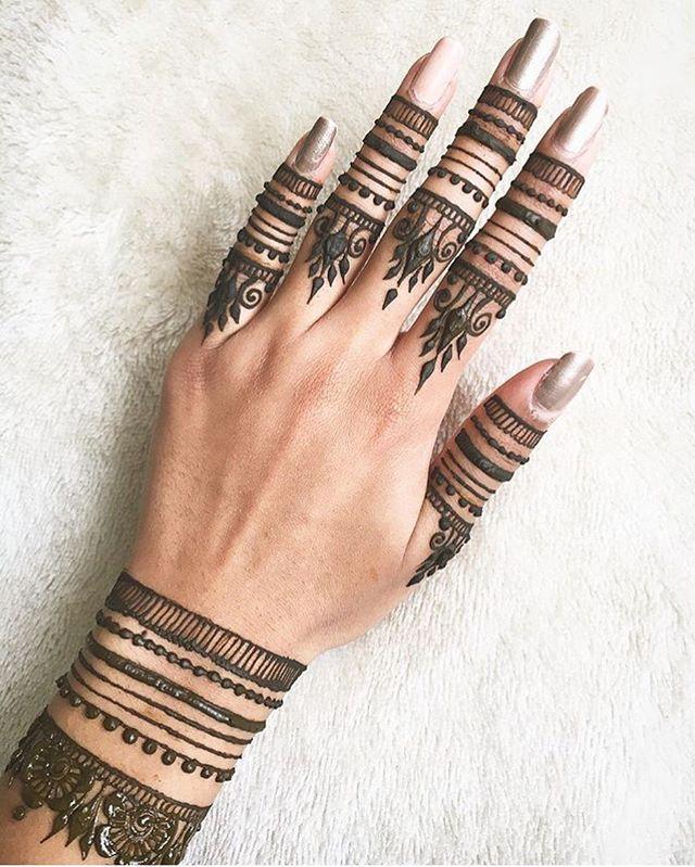 Finger Mehndi Designs 9