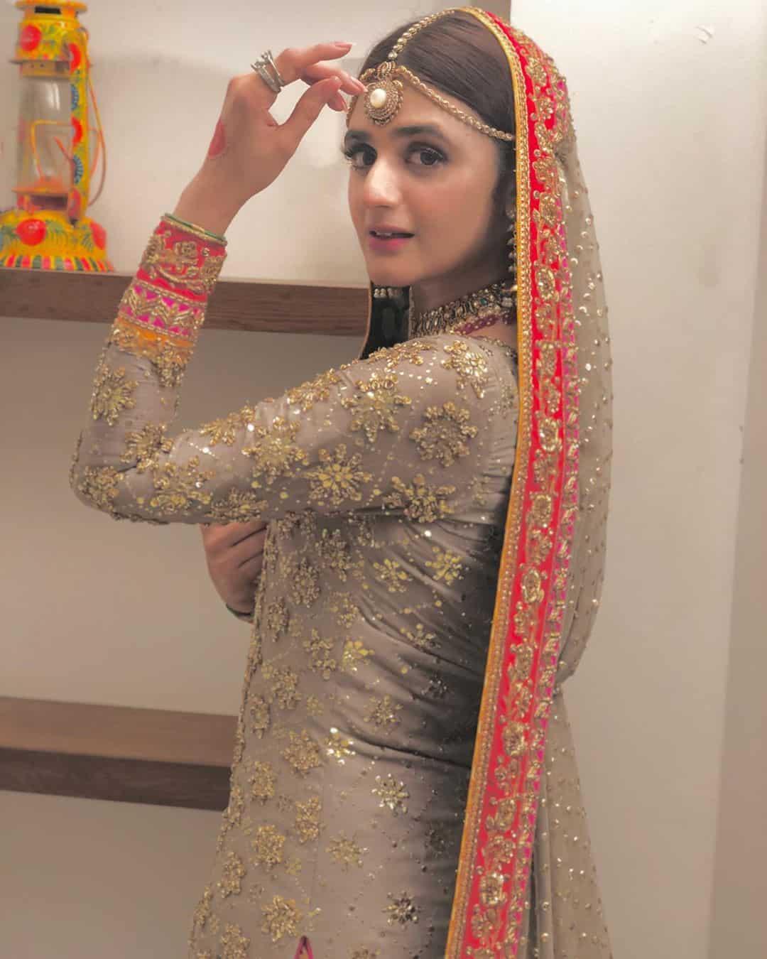 Beautiful Actress Hira Mani's Latest Clicks as Bride