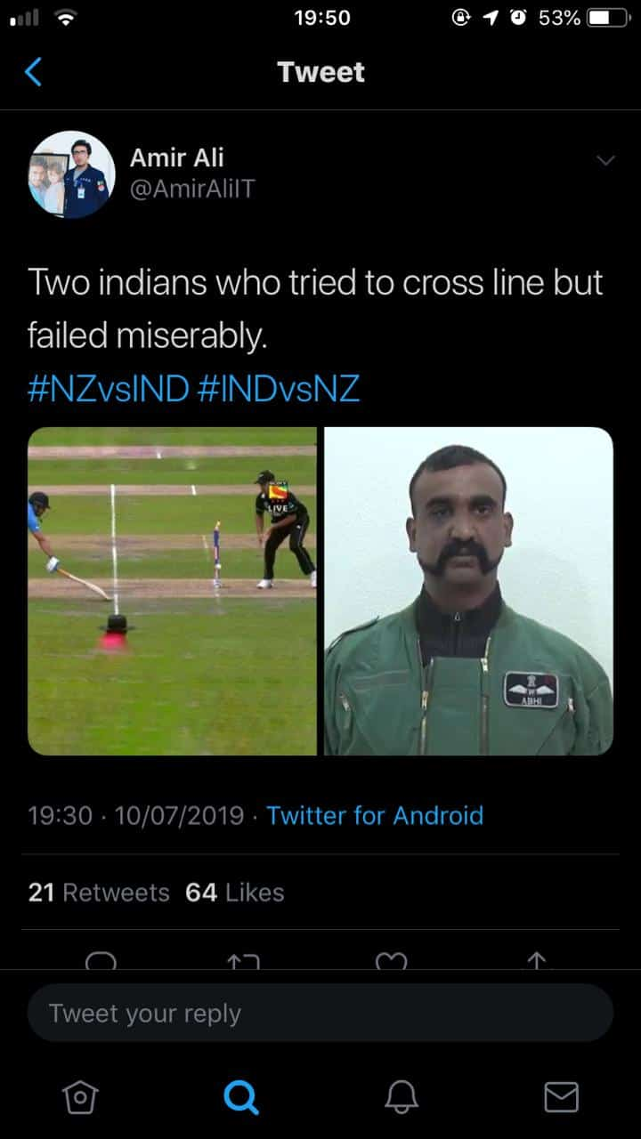 India Vs New Zealand Worldcup 2019 Memes (16)