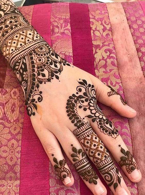 Indian Mehndi Design 16