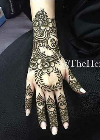 Indian Mehndi Design 7
