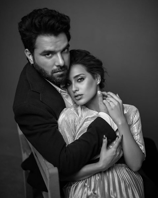 Latest Photoshoot of Love Birds Yasir Hussain & Iqra Aziz for a Magazine