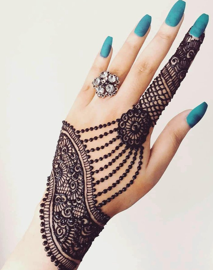 Ornamental mehndi designs 13
