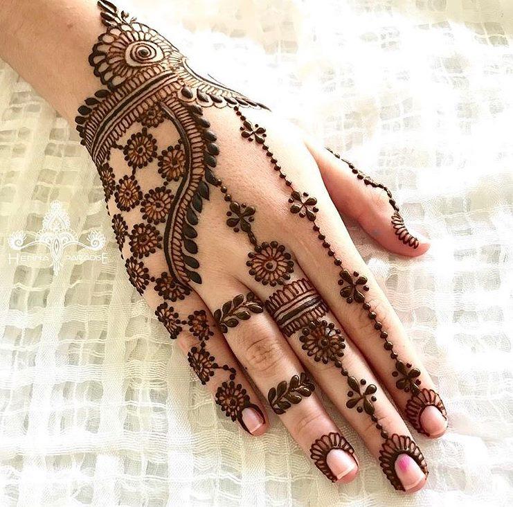 Ornamental mehndi designs 8