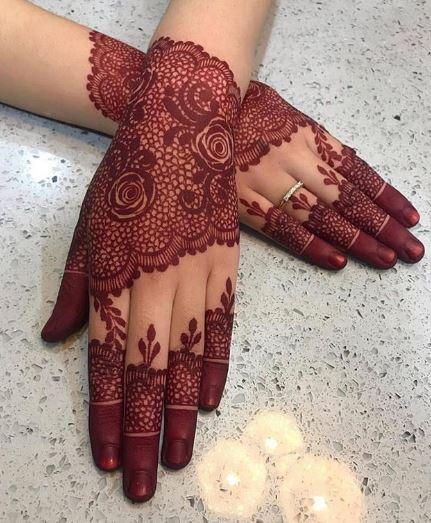 Red Mehndi Designs 1