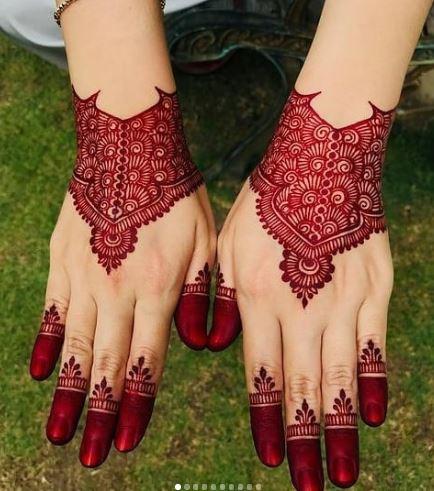 Red Mehndi Designs 11
