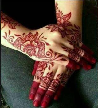 Red Mehndi Designs 12