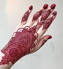 Red Mehndi Designs 3