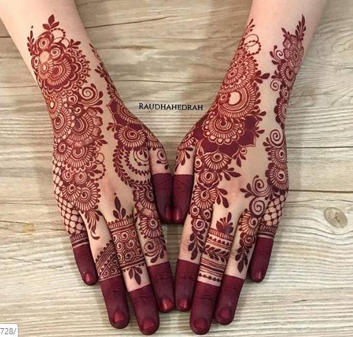 Red Mehndi Designs 4