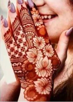 Red Mehndi Designs 6