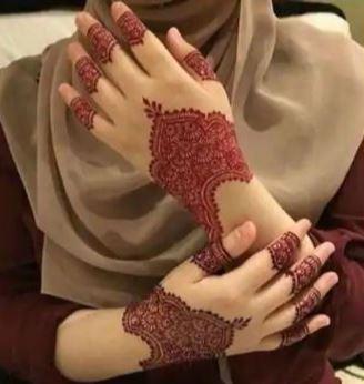Red Mehndi Designs 7