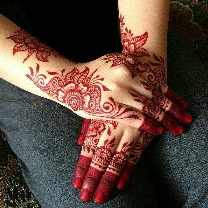 Red Mehndi Designs 8