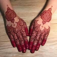 Red Mehndi Designs 9