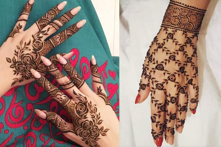 Rosette And Filigree Mehndi Designs 16