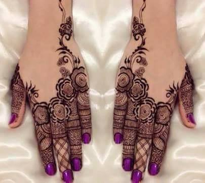 Rosette And Filigree Mehndi Designs 2