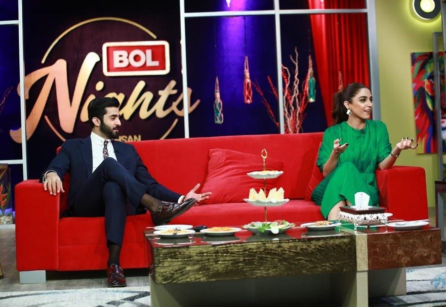 Shehryar Munawar & Maya Ali in Bol Nights with Ahsan Khan