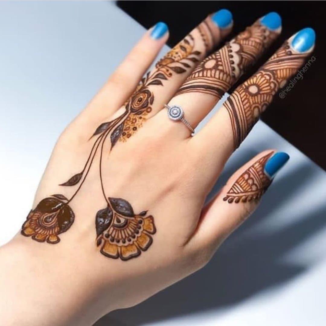 Simple Mehndi Designs 14