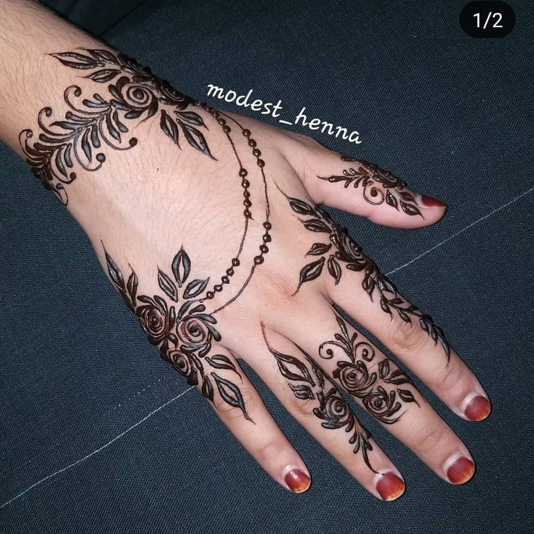 Simple Mehndi Designs 21