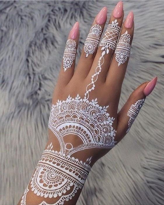 White Mehndi Designs 1