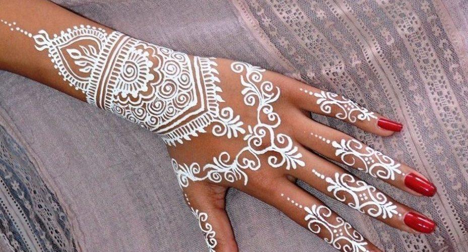 White Mehndi Designs 13